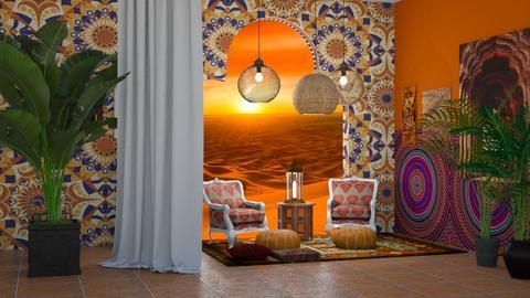 Moroccan_Orange - Living room  - by Feeny