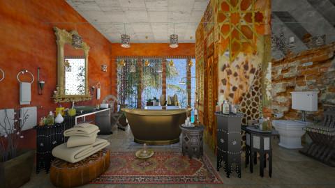 oriental boho - Bathroom  - by Ida Dzanovic