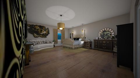 black and gold bedroom - Bedroom  - by RhodriSimpson13
