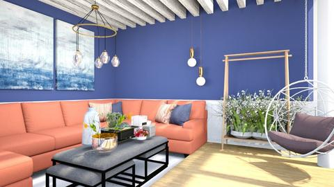 blue home living - Living room  - by nihalruttala