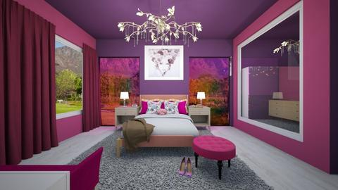 Pink and Purple - Bedroom  - by Nikki Lipstick
