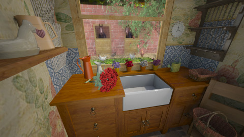 country scullery - Country - Kitchen  - by donella