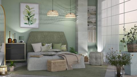 M_ Sage bedroom 3 - Bedroom  - by milyca8