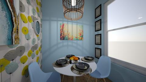blues kitch dinner - Retro - Kitchen - by seahorsesteph