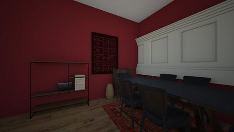 Raspberry Kitchen - Modern - Dining room  - by Kaiyab2003