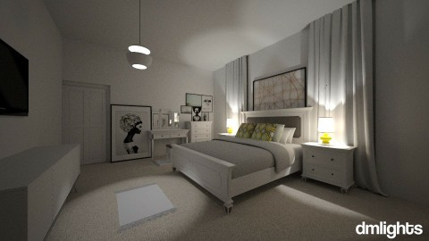 MINIMAL MODERN BEDROOM - Minimal - Bedroom  - by DMLights-user-1593471