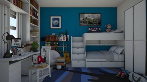 boys room - Bedroom  - by elenamallett