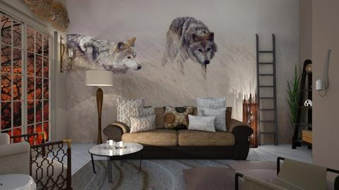 Wolf pack - Country - Living room - by Sue Bonstra