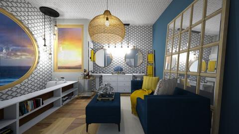 modern ocean vibes - Bathroom  - by graciecbogardus