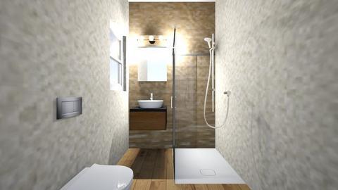 Baie mica_etaj_LOT58 - Bathroom  - by angelarogoveanu2018