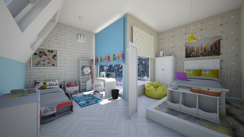 shared bedroom - Kids room  - by rafita