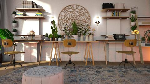 Bohemian_Office - Office  - by ZuzanaDesign