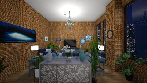 Blue Mood - Modern - Living room - by Irishrose58