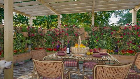 Design 363 Patio Luncheon - Garden  - by Daisy320