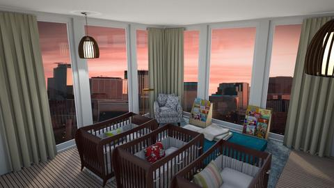 Triplets - Kids room  - by emivim