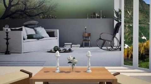 Mural Madness  - Living room  - by Sandra Shirley McBride