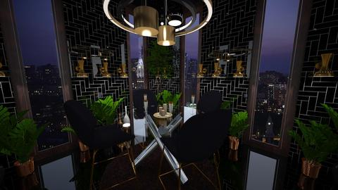Lamps and a Round Table - Modern - Dining room  - by 136402