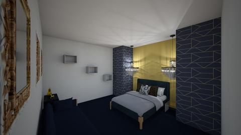 Navy and Gold Bedroom  - Modern - Bedroom  - by MWB08