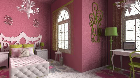 pink - Glamour - Bedroom  - by kiscsitty