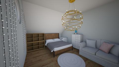 Attic Bedroom - Bedroom  - by Maireni B Petaluma