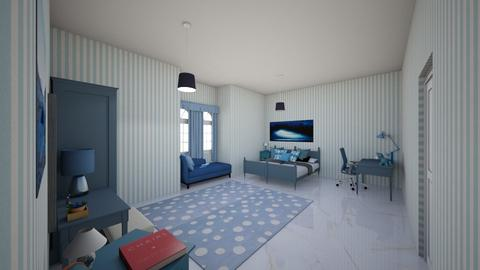 Bloomy blue - Global - Bedroom  - by Oyisha