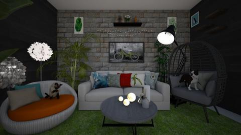 GREEN - Masculine - Living room  - by thanhngoc