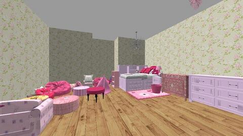 My Pink Flower Bedroom - Bedroom - by MGOutdoorgirl