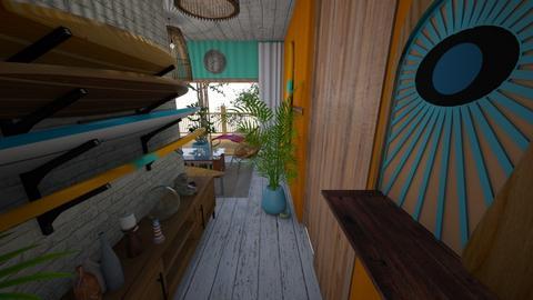 Surf Hallway 60s - Retro - by Rho