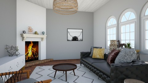 Foramal LIving - Rustic - Living room  - by love Tully love