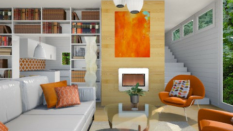 Mid Century Modern - Vintage - Living room  - by Baustin
