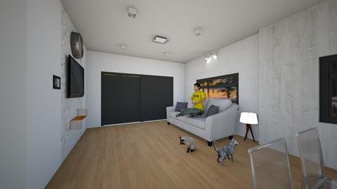 Living room1 - Modern - Living room  - by reventon13