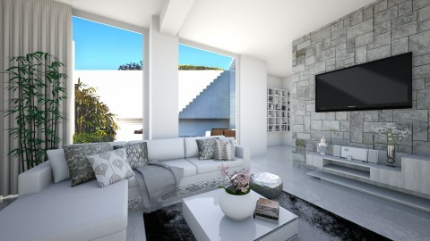 White - Minimal - Living room  - by deleted_1566988695_Saharasaraharas