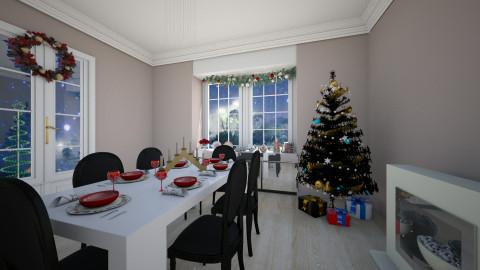 Preparando o Natal - Dining room - by Maria_Julia