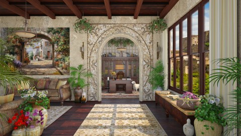 Design 97 Tuscan Living - Living room  - by Daisy320