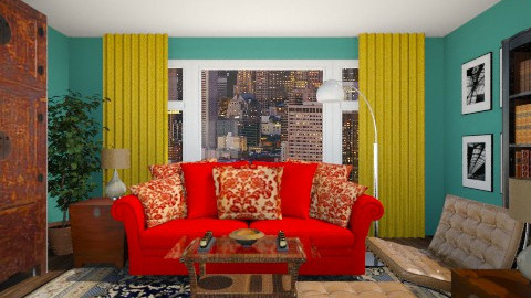 A Colorful Eclectic Mix - Eclectic - Living room  - by LadyVegas08
