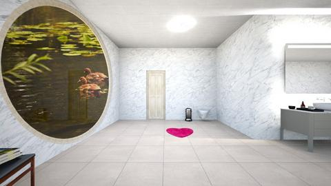 Pond Bathroom - Retro - Bathroom  - by rodio33122iiih