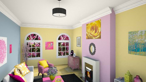 Pink And Yellow  - Living room - by christinasolari