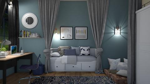 Blue Contest mikaelahs - Bedroom  - by mikaelahs