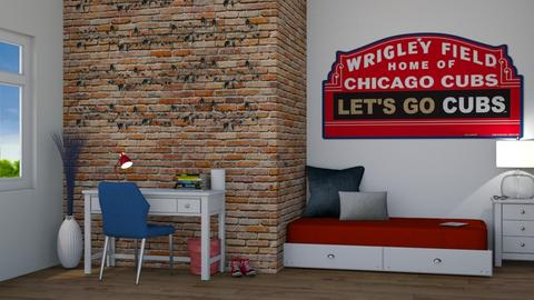 Chicago Cubs Bedroom - Bedroom  - by flowerchild369