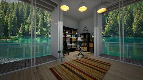 library corner - Living room - by mackenzie3