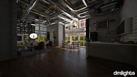 industrial loft - Modern - Living room - by DMLights-user-982918