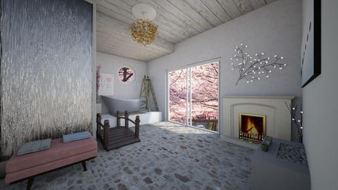 Kirschblüte Badezimmer - Bathroom  - by Ilovebooks
