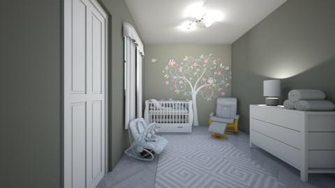 Grey Nursery - Kids room  - by creato