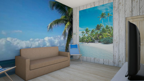Beach Living room - Rustic - Living room  - by indiannaerickson