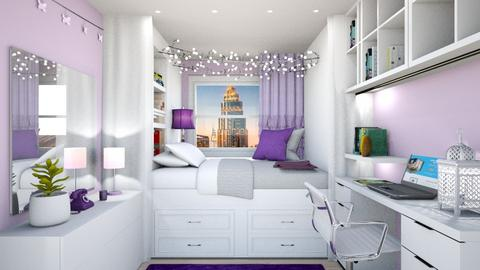Student Dorm purple - Bedroom  - by MillieBB_fan