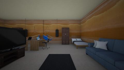 modern earthy teen room - Kids room  - by designer 562482736