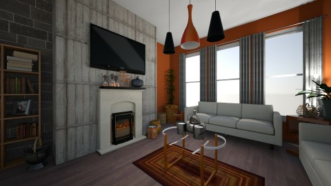 Rustic Roost - Rustic - Living room  - by XiraFizade