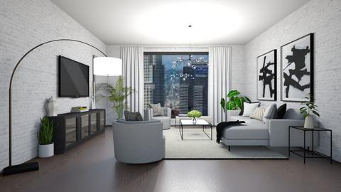 minimalistic living room - Living room  - by Zoe Bailey