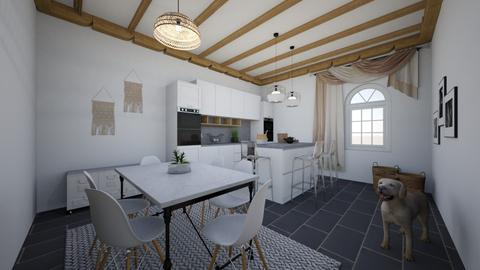 Kitchen and dining 1 - Modern - Kitchen  - by evabarrett