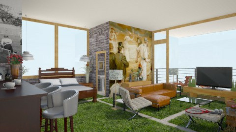 tower tennis - Eclectic - Bedroom  - by russ